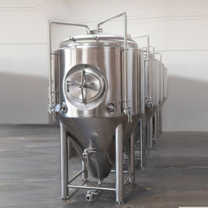 500L Double Wall Dimple Jacket Stainles Steel Conical Isolé Fermentation Beer Tank Available